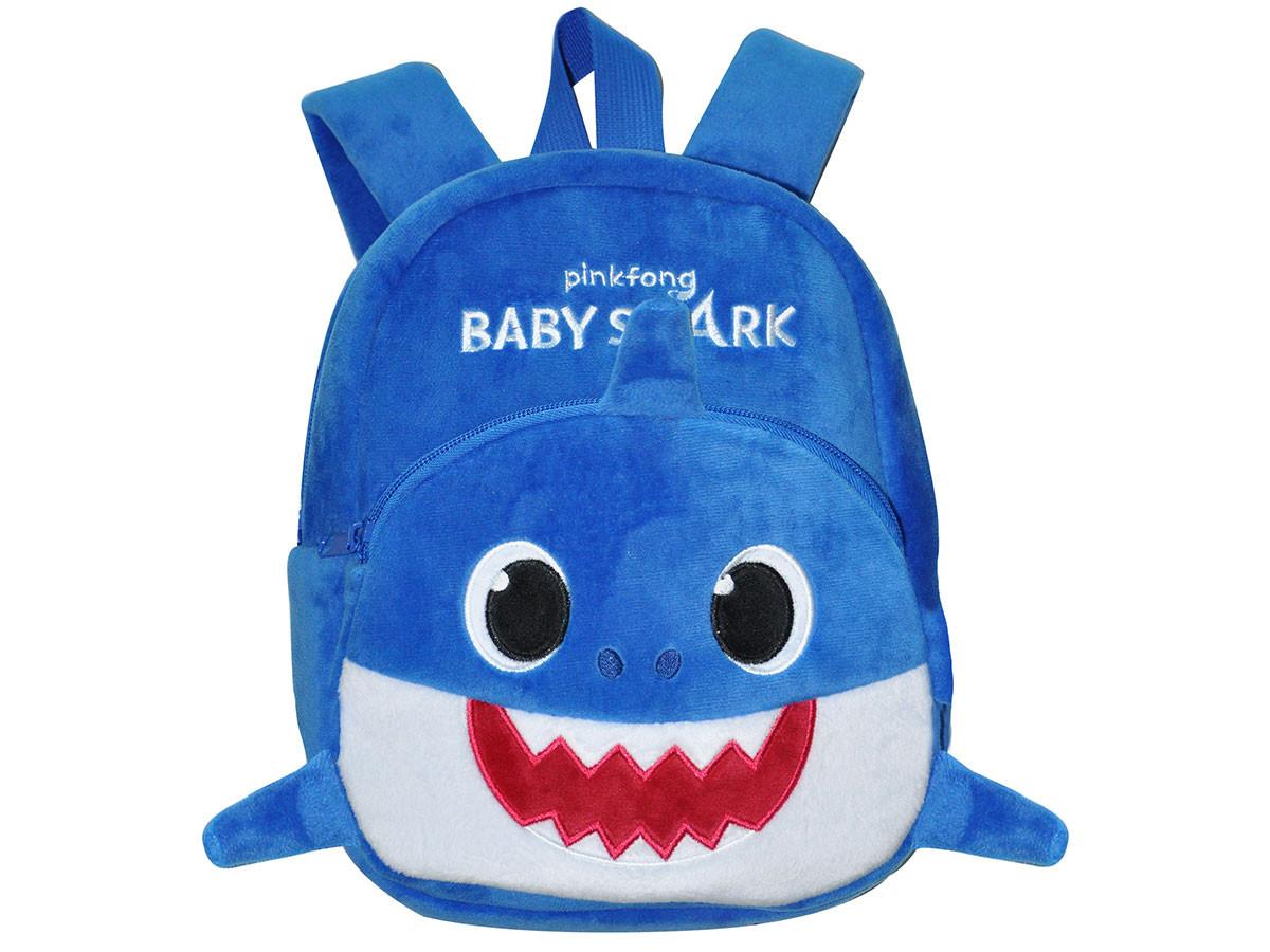 Sac à dos Peluche Baby Shark Bleu