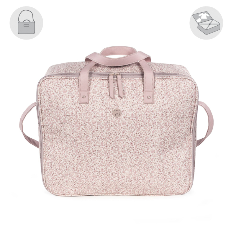 Pasito a Pasito Valise Maternelle Flower Mellow Rose