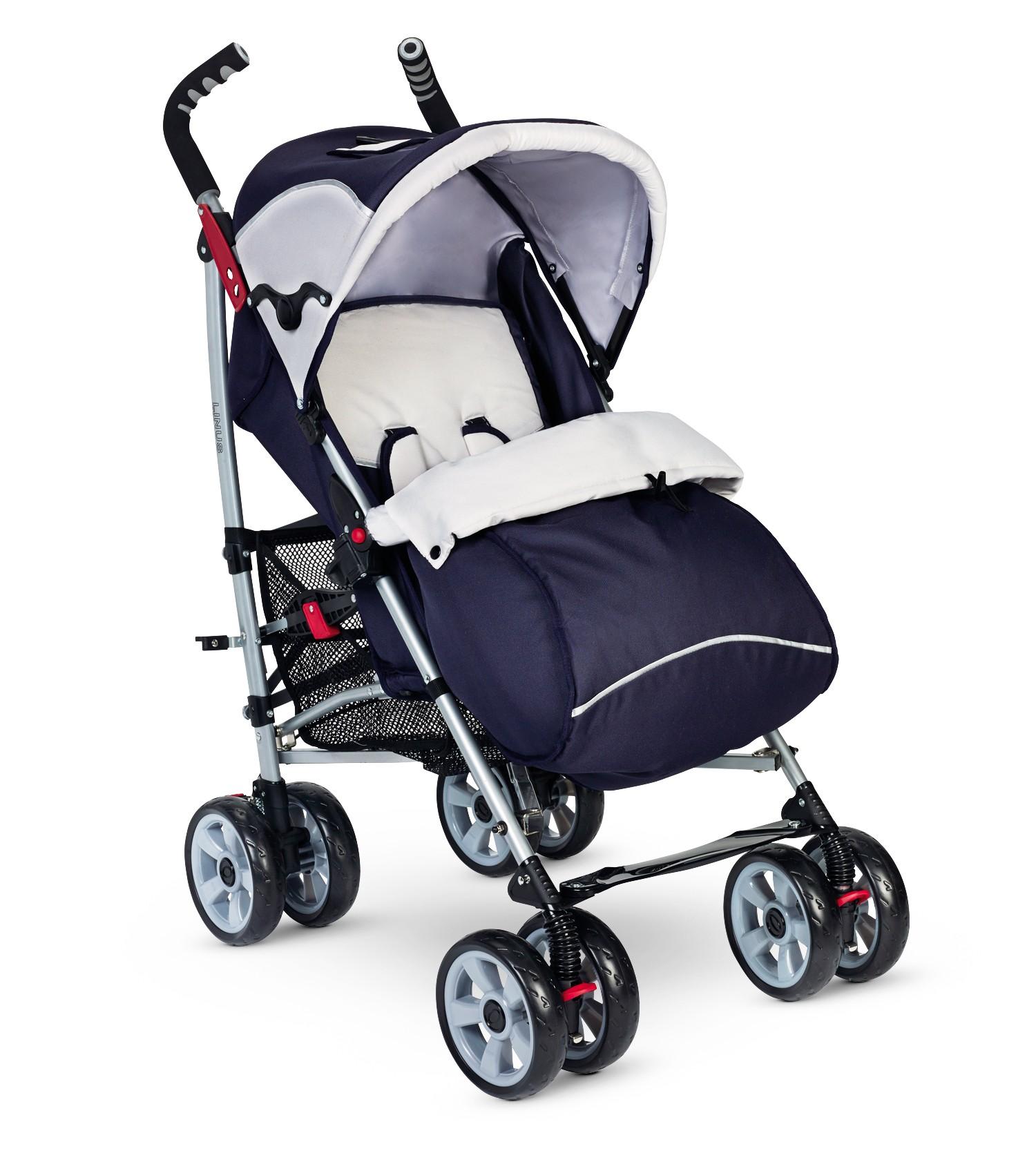 Plebani Kinderwagen Linus Blau