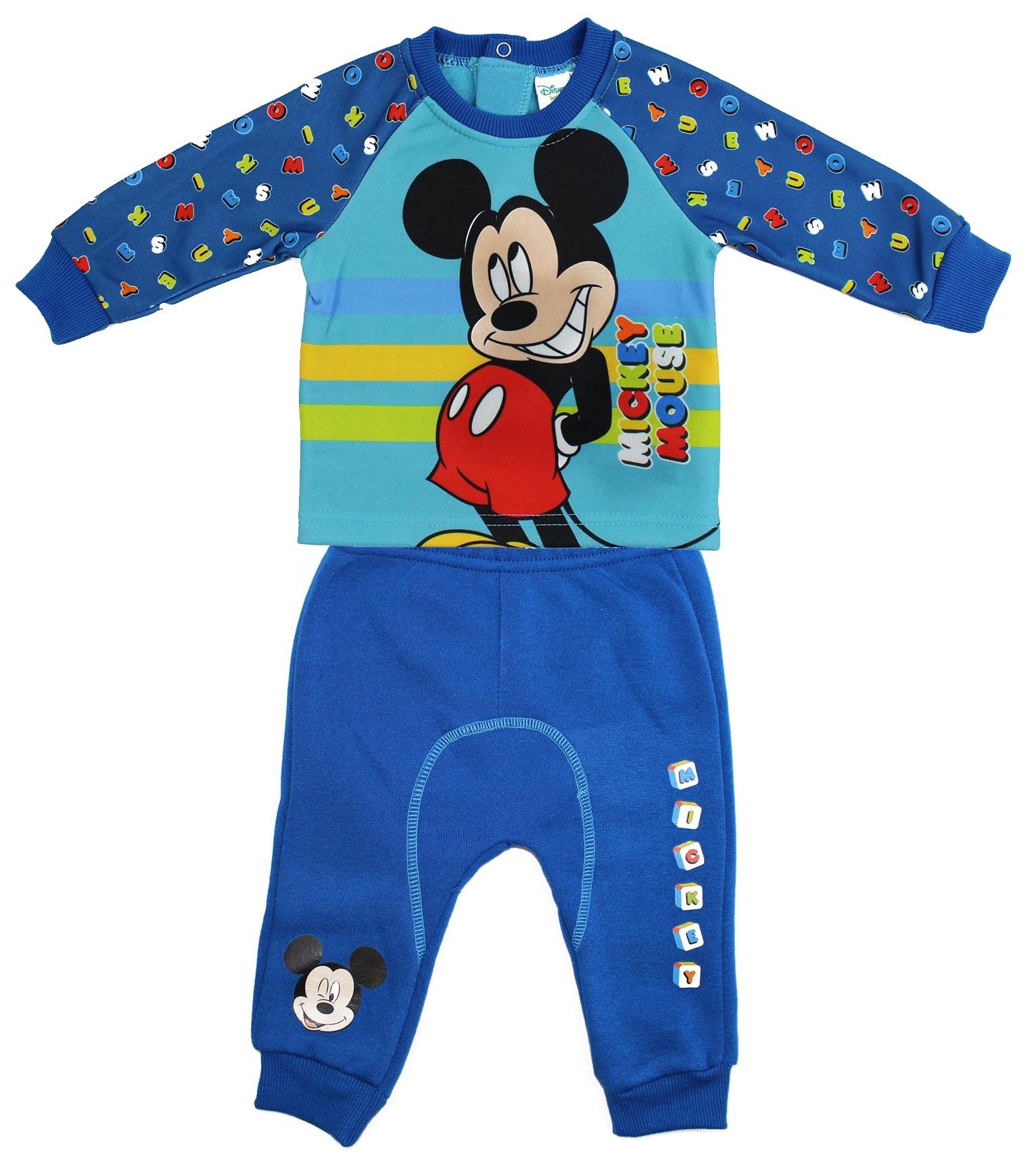 Tuta Neonato Mickey Mouse - Blu/Azzurro