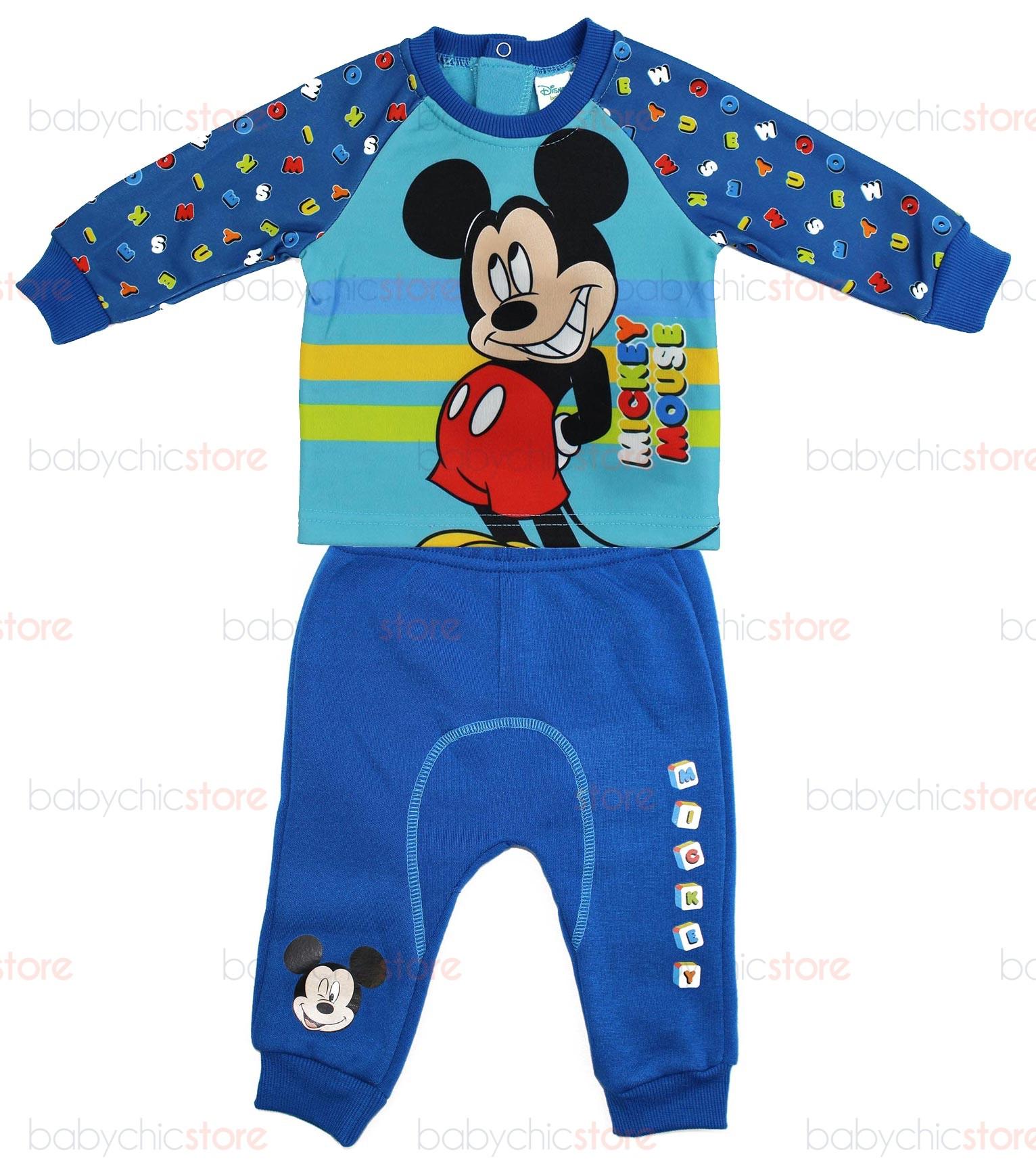Tuta Neonato Mickey Mouse Blu/Azzurro - 12 Mesi