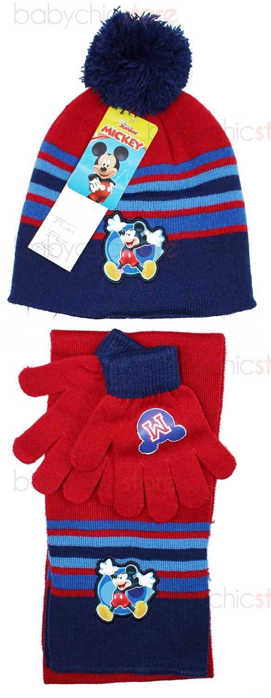 Mickey Mouse Schal, Mütze und Handschuhe Red