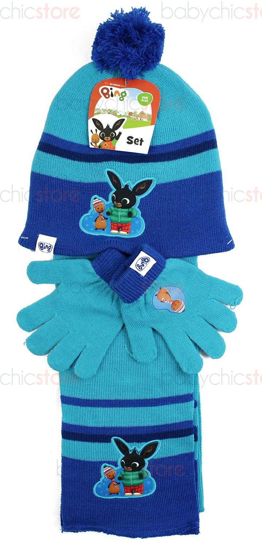 Bing Schal, Mütze und Handschuhe Blue