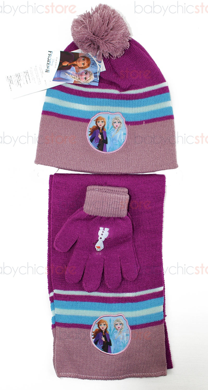 Frozen Schal, Mütze und Handschuhe Rosa