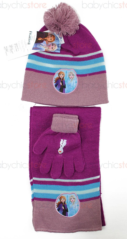 Set Sciarpa, Cappello e Guanti Frozen - Rosa