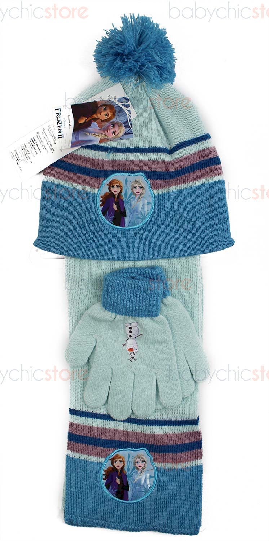 Set Écharpe, Bonnet et Gants Frozen Bleu