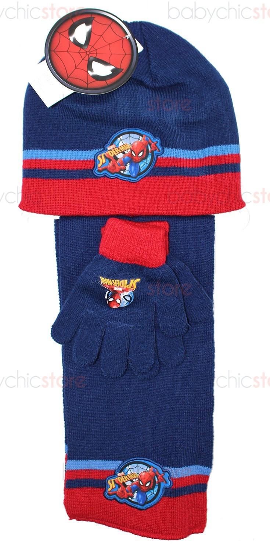 Spiderman Schal, Mütze und Handschuhe