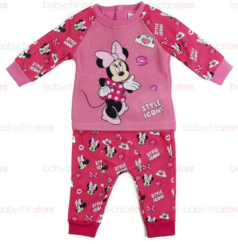 Tuta Neonato Disney Minnie Rosa - 12 Mesi