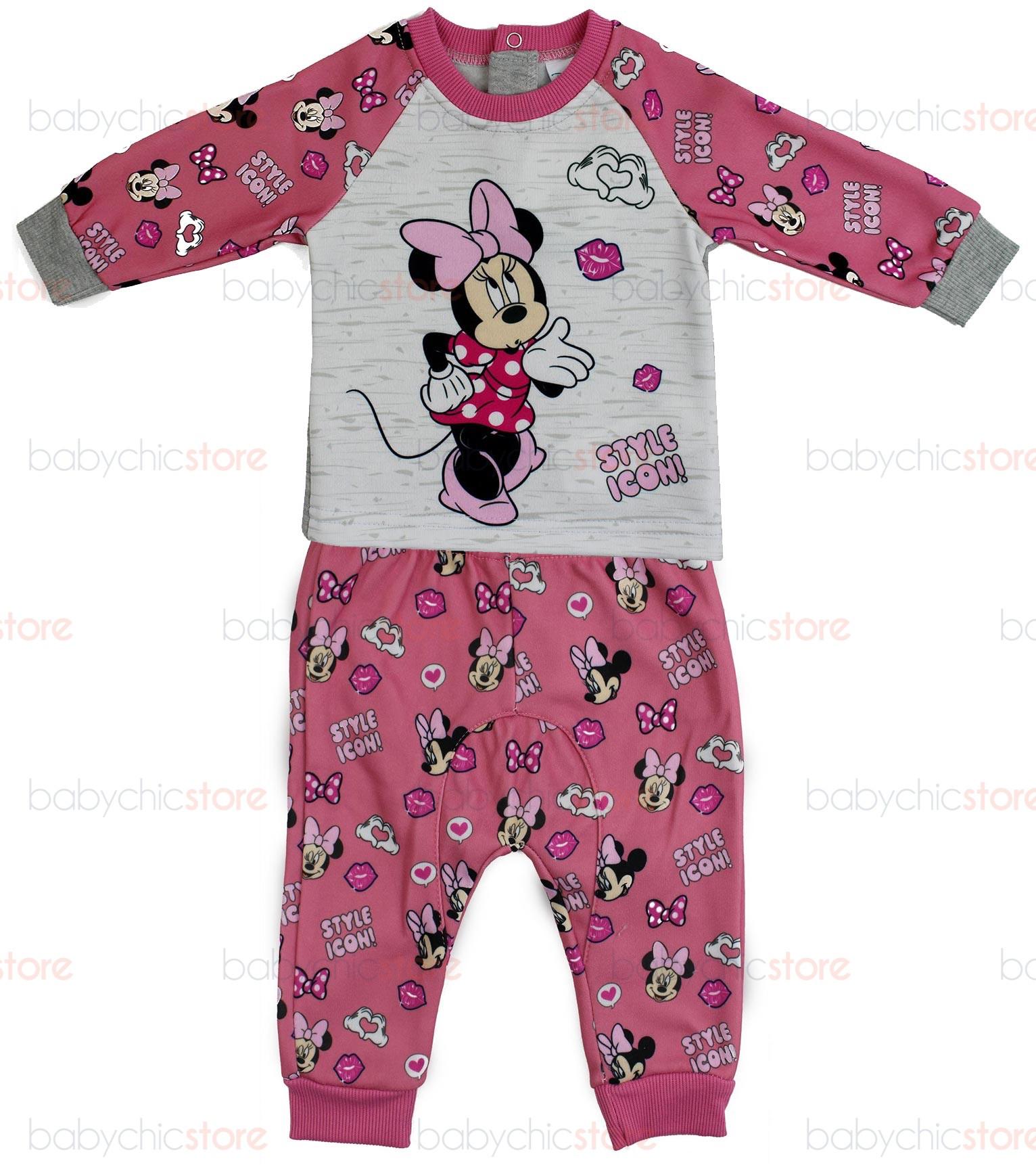 Tuta Neonato Disney Minnie Rosa/Grigio - 6 Mesi