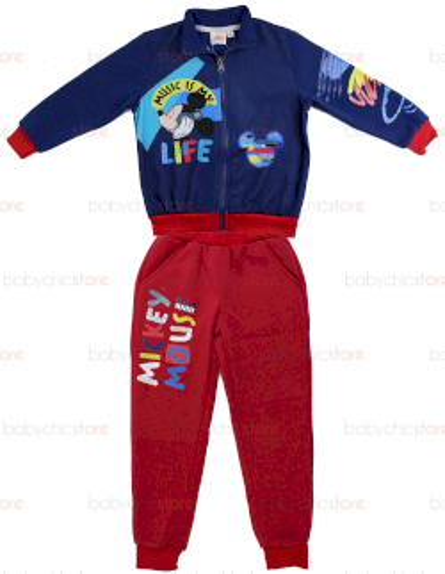 Jogging Set Mickey Mouse - Rosso/Blu 7 Anni