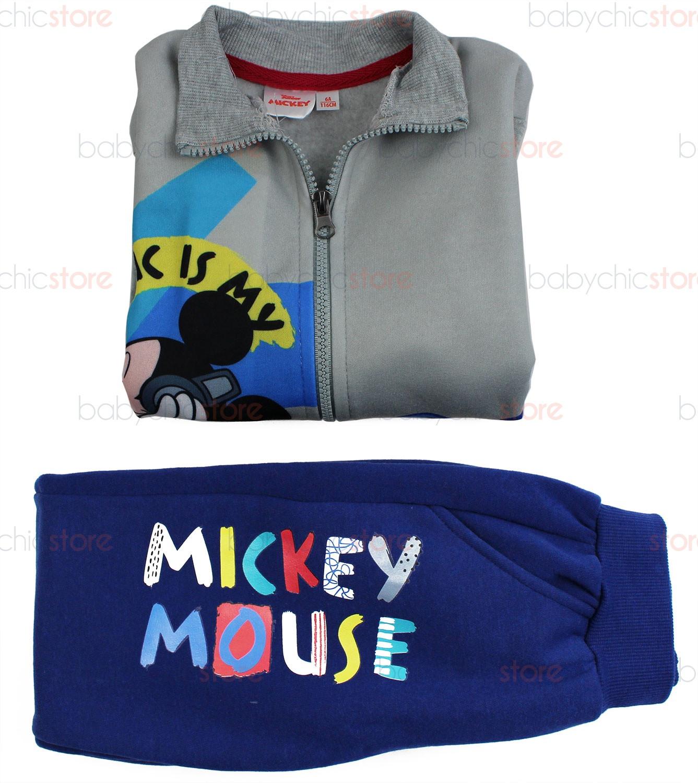 Jogging Set Mickey Mouse - Grigio/Blu 7 Anni