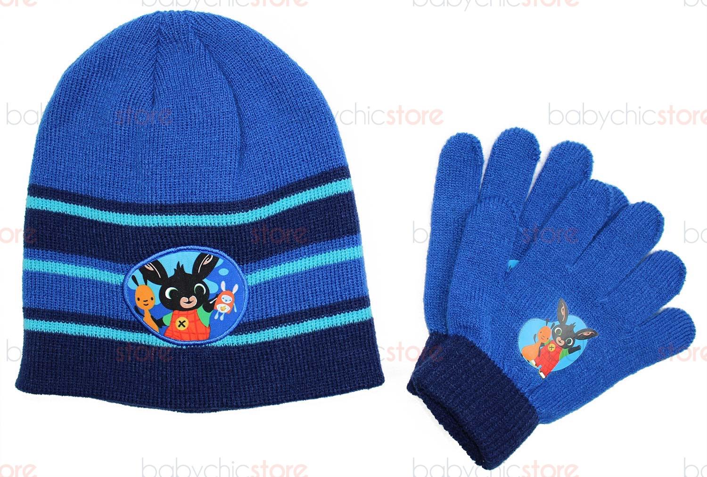 Set Bonnet et Gants Bing Bleu