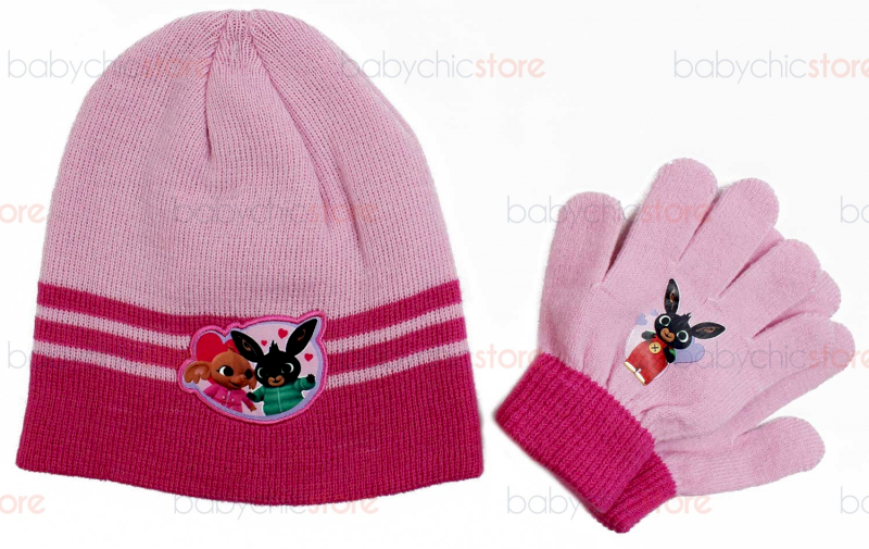 Bing Hut + Handschuhe-Set Pink