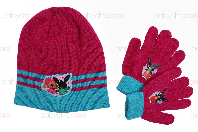 Bing Hut + Handschuhe-Set Grey Fuxia