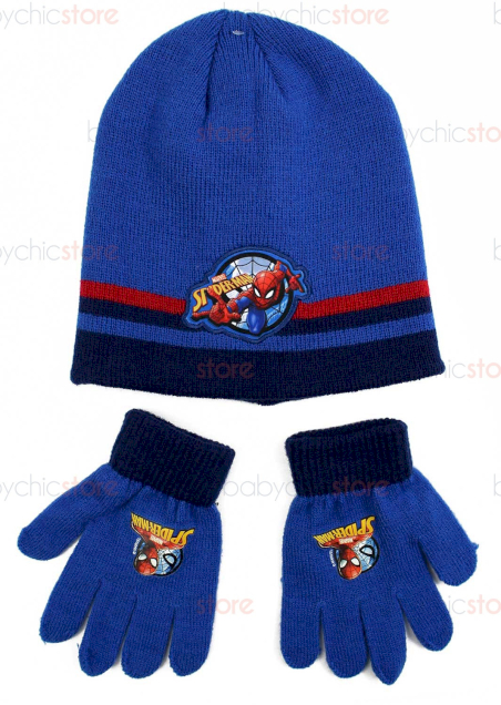 Set Cappello e Guanti di Spiderman