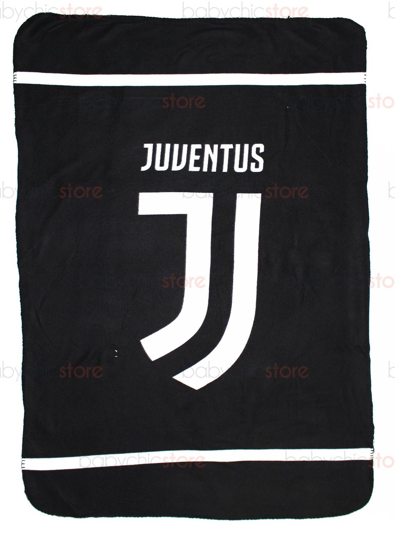 Copertina in Pile Juventus Official - Logo Bianco