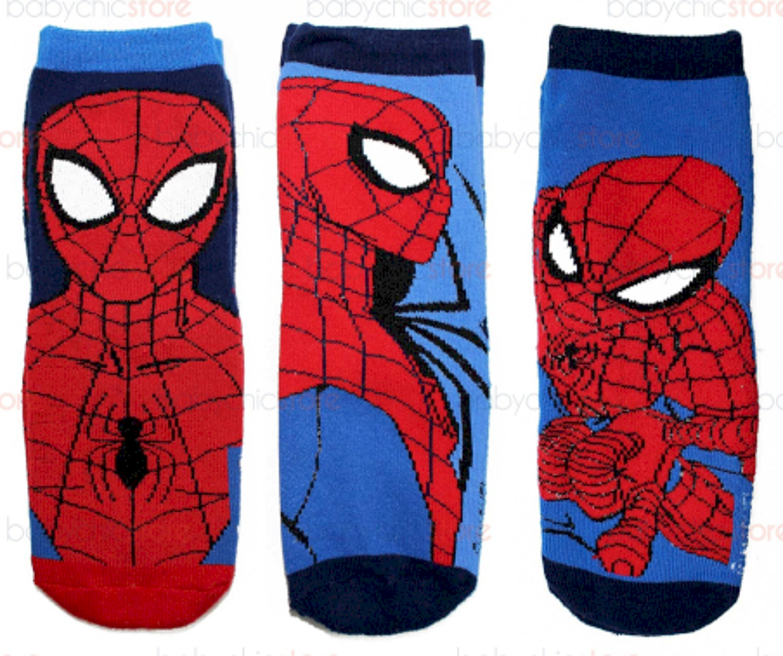 3 Paia Calzini Antiscivolo Spiderman