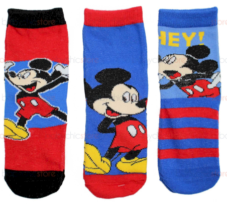 Set 3 Paia di Calzini Mickey Mouse