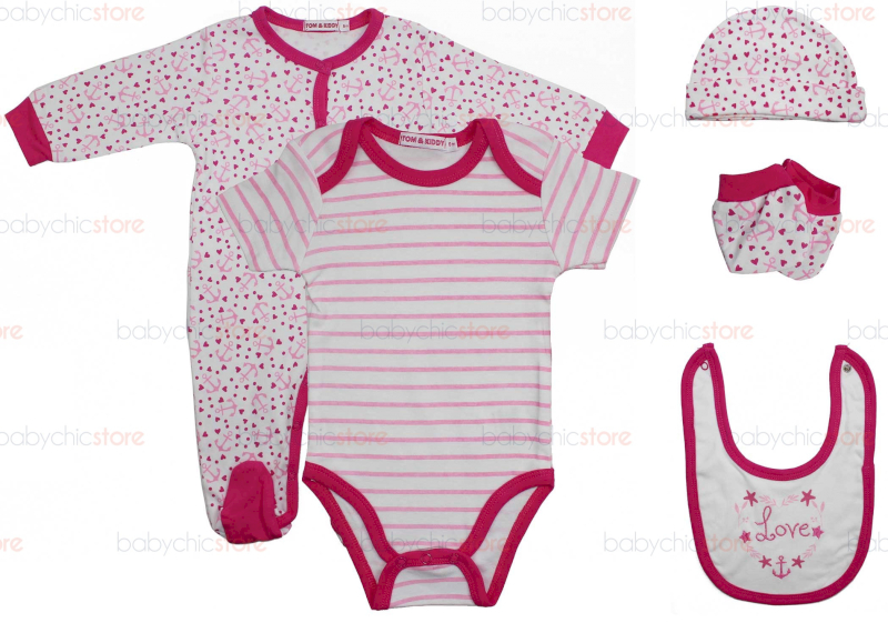 Set Completo Body e Tutina Love - 0 Mesi