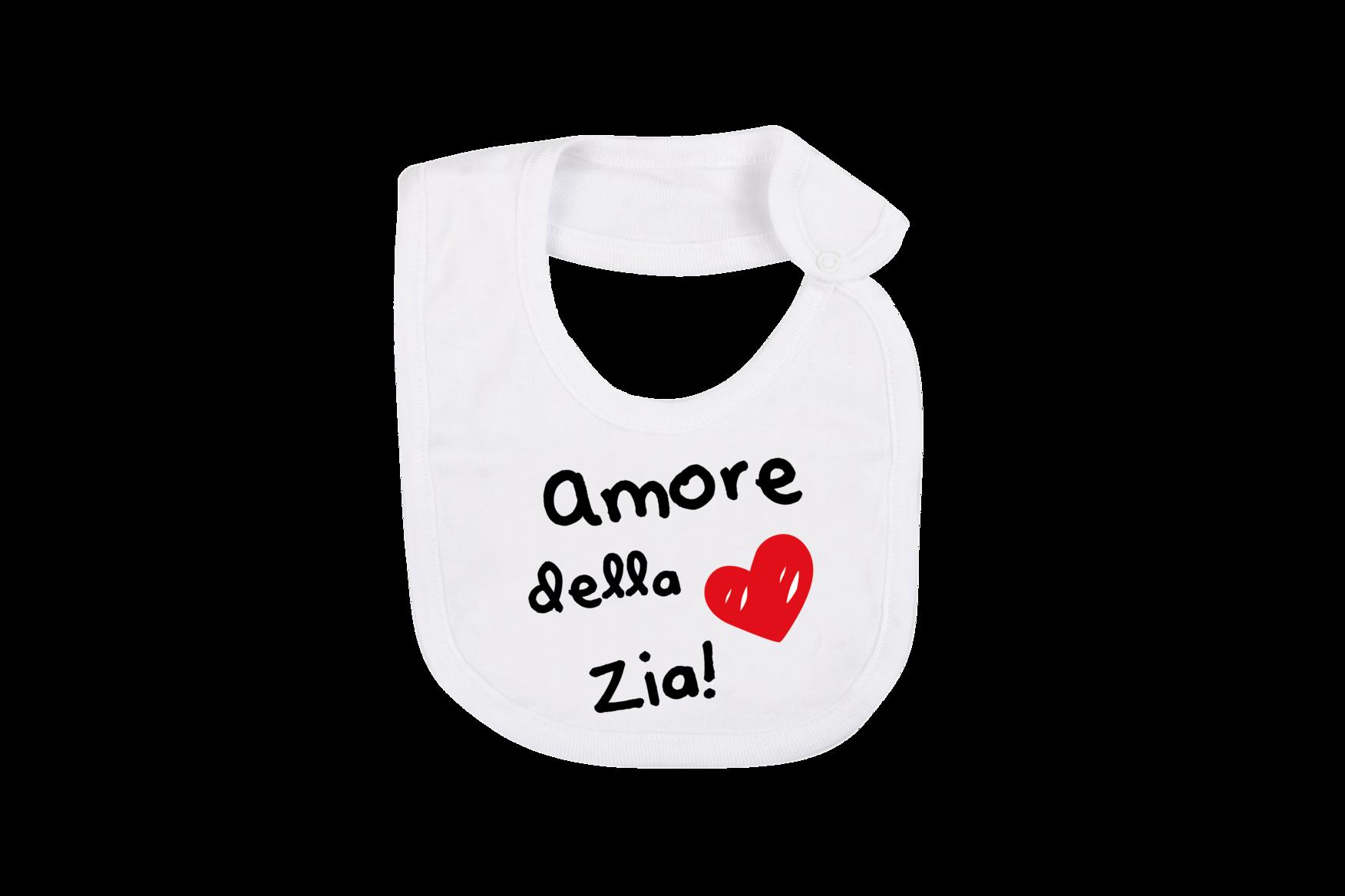 Bavaglino Neonato Amore Della Zia