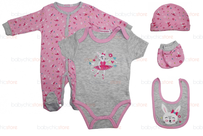 Set Completo Body e Tutina Rabbit - 3 Mesi