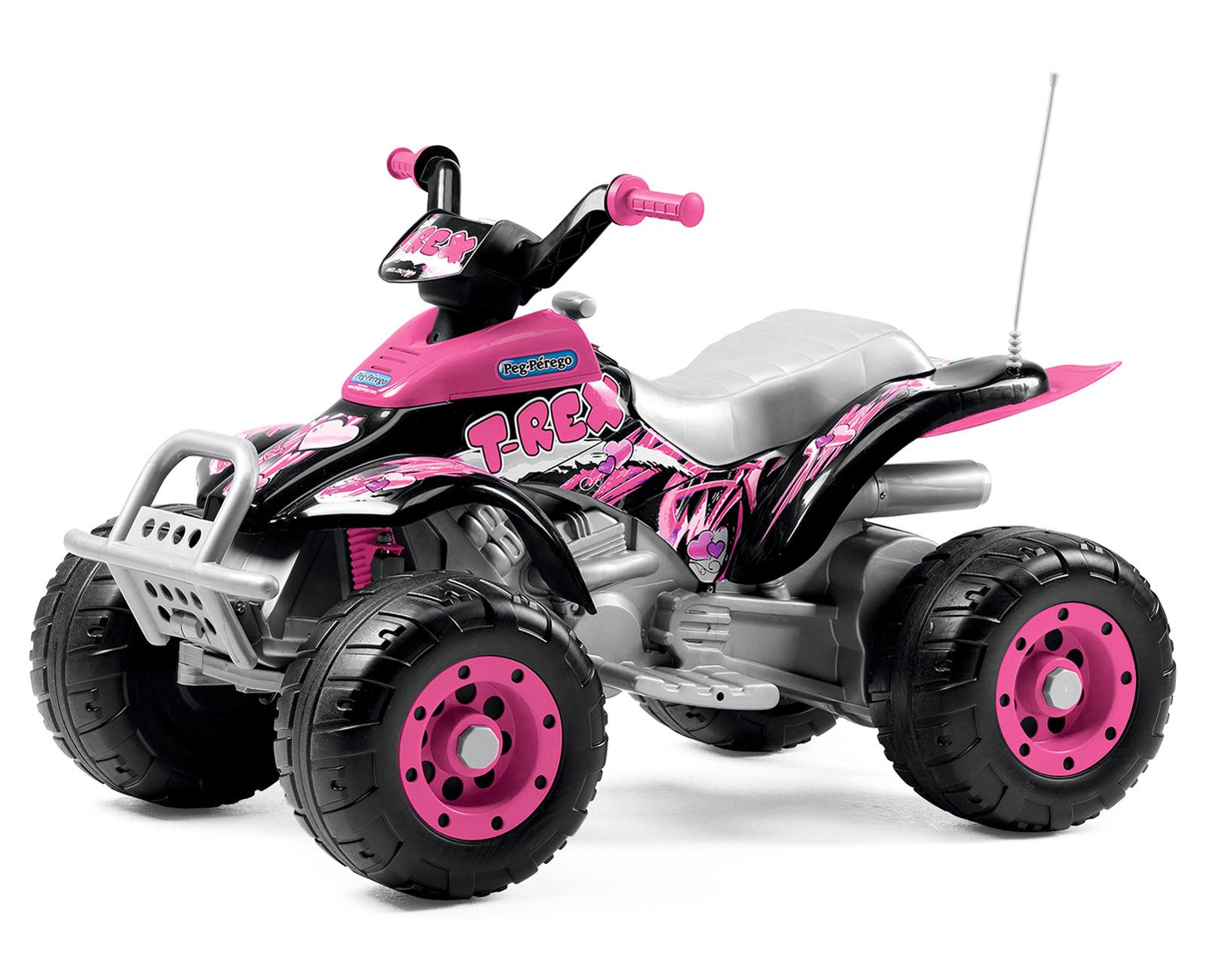 Peg Perego Quad Électrique Corral T-Rex Pink