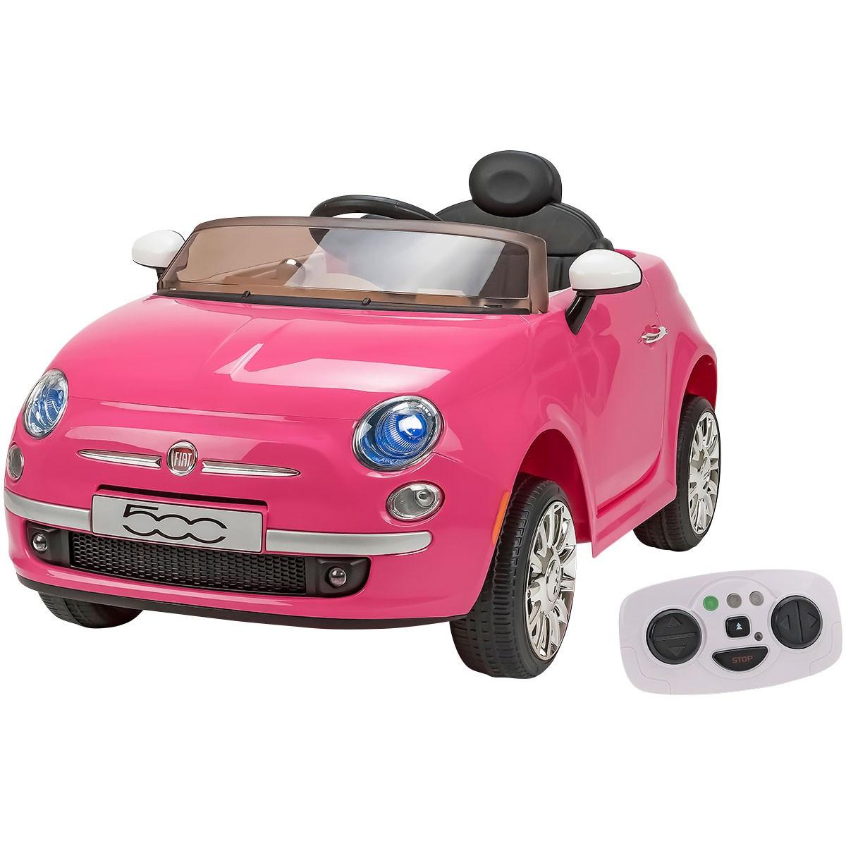 Auto Elettrica Fiat 500 Rosa