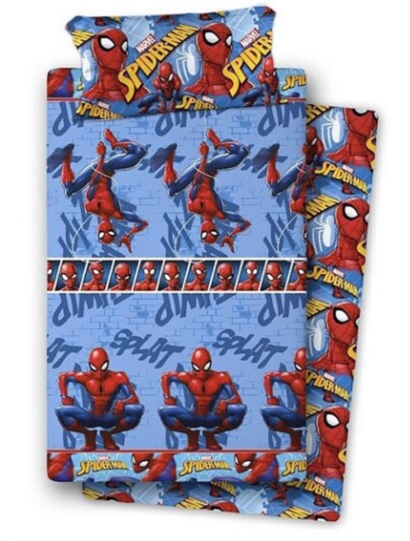 Completo Letto in Flanella di Spiderman