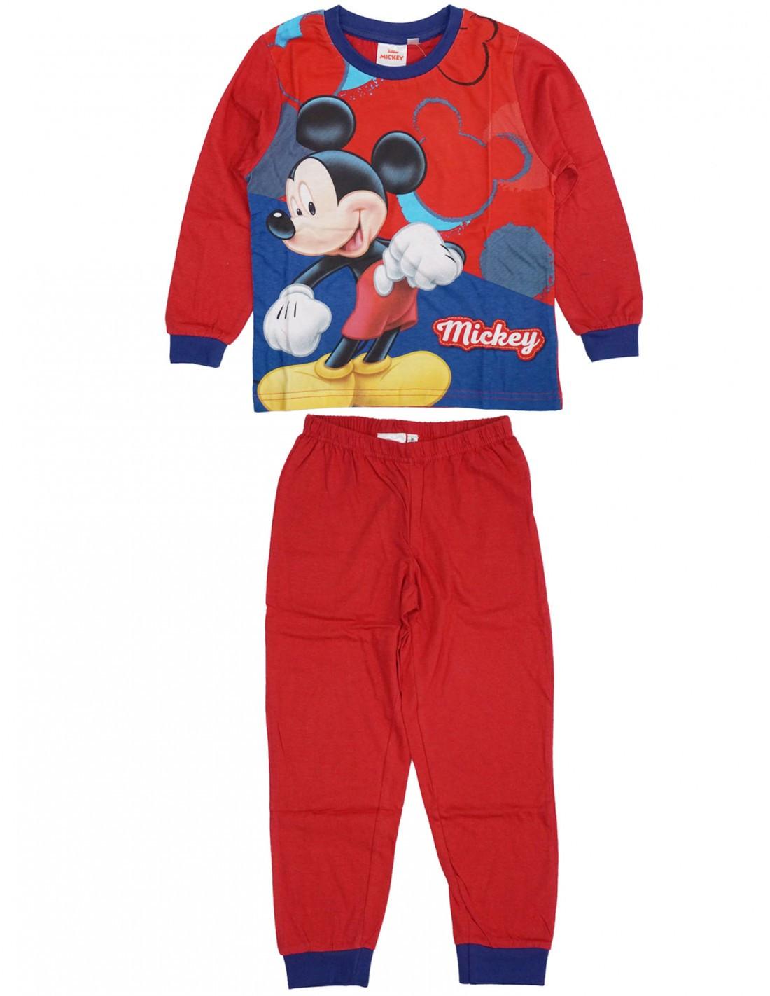 Pigiama Disney Mickey Mouse - Rosso 2 Anni