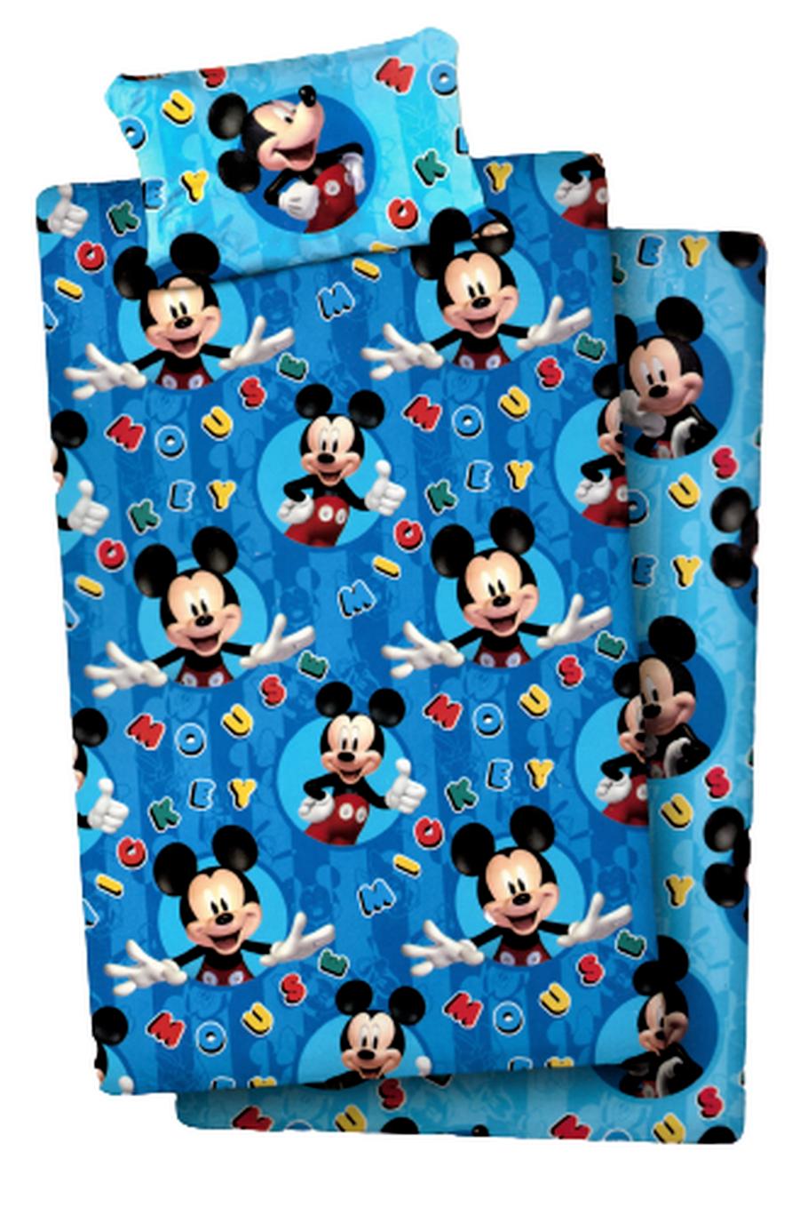 Set Lenzuola per Letto Singolo di Mickey Mouse