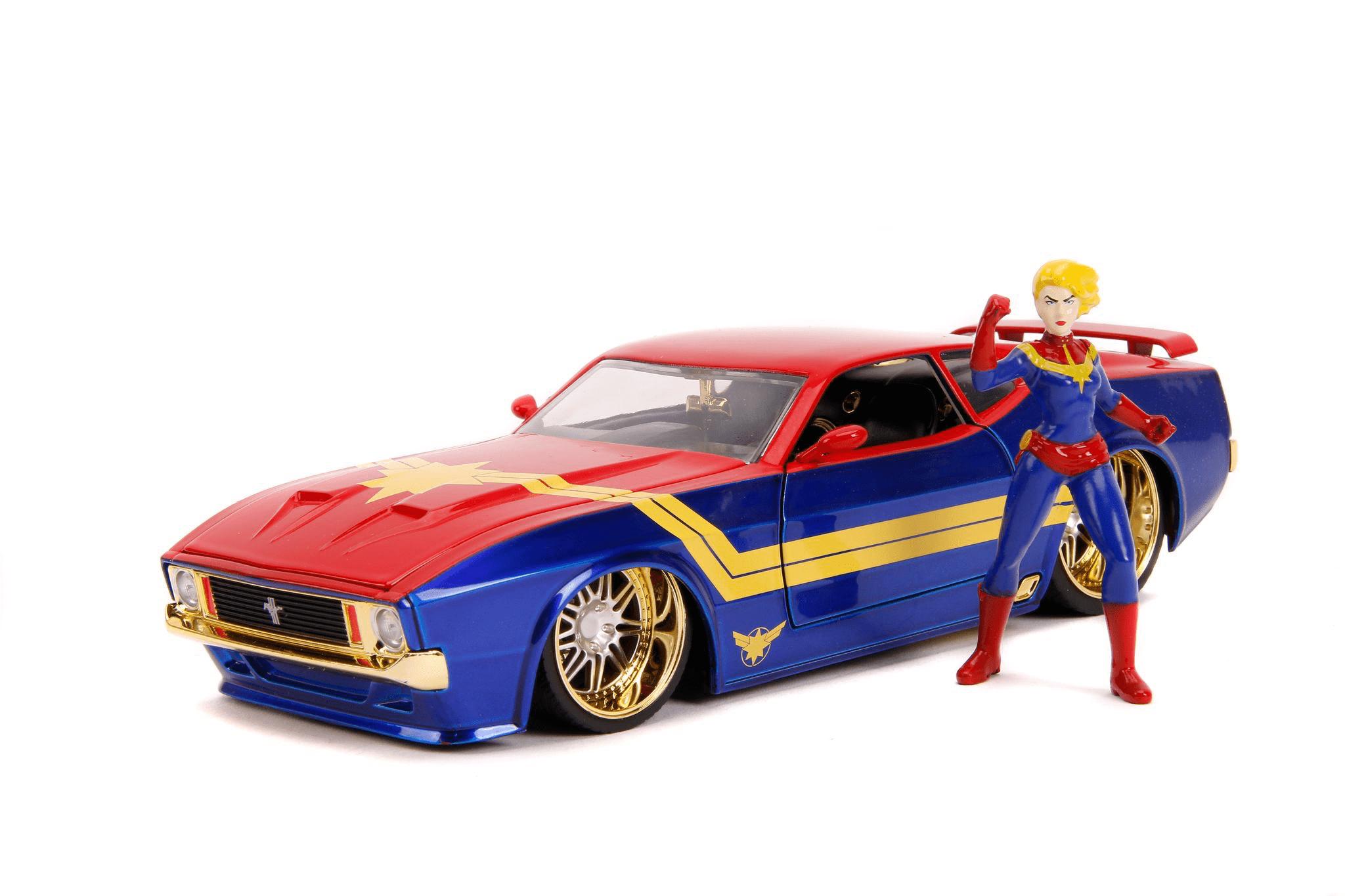 Captain Marvel & Ford Mustang 1973