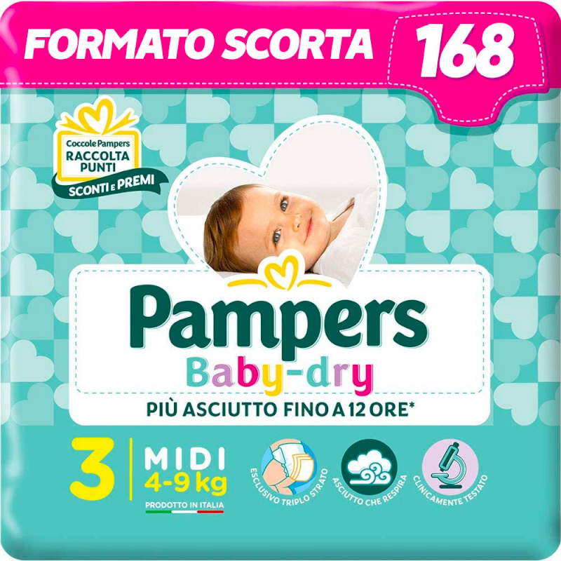 Pampers Bay Dry Esapack - Talla 3