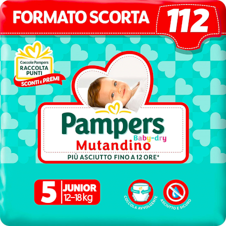 Pampers Couches-Culottes Baby Dry - Taille 5
