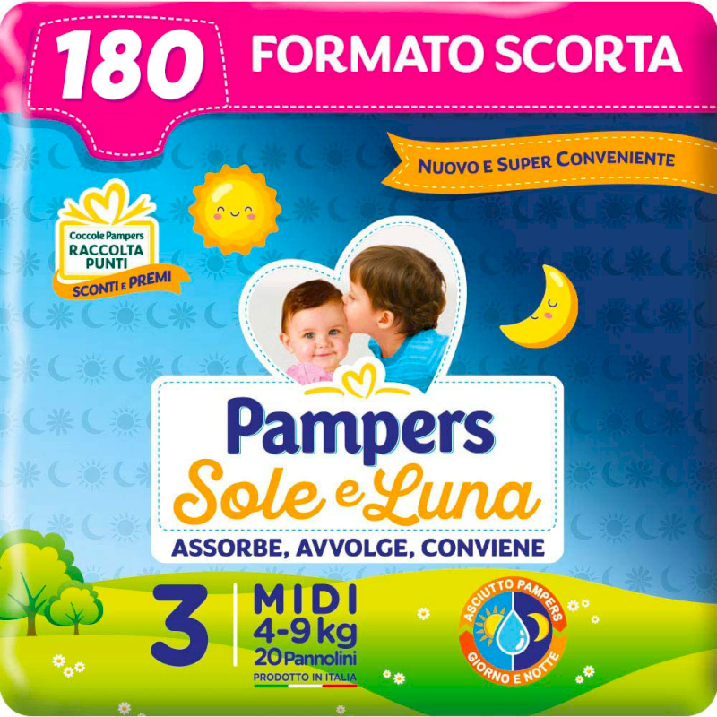 Couches Pampers Sole e Luna Taille 3 - Provisions