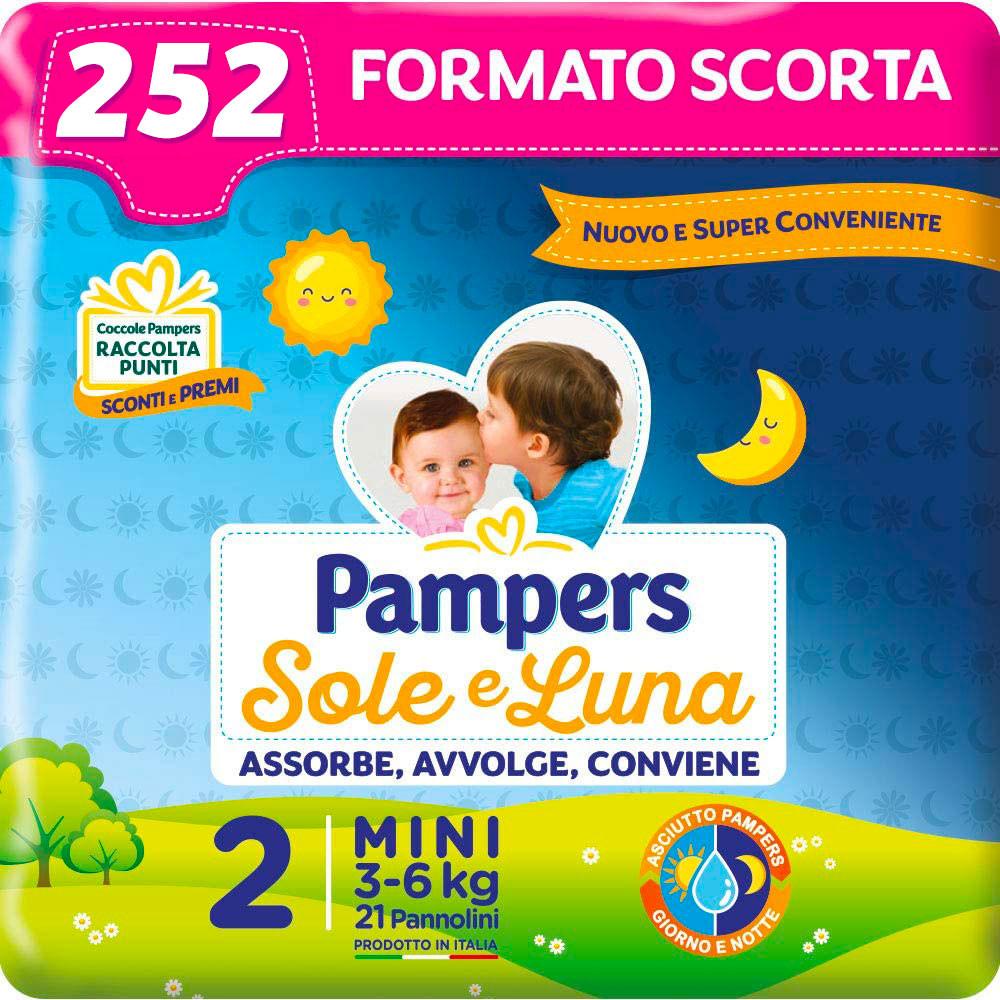 Pannolini Pampers Sole e Luna Misura 2 - Pacco Scorta