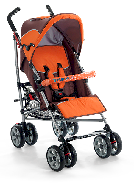 Plebani Kinderwagen Linus Orange