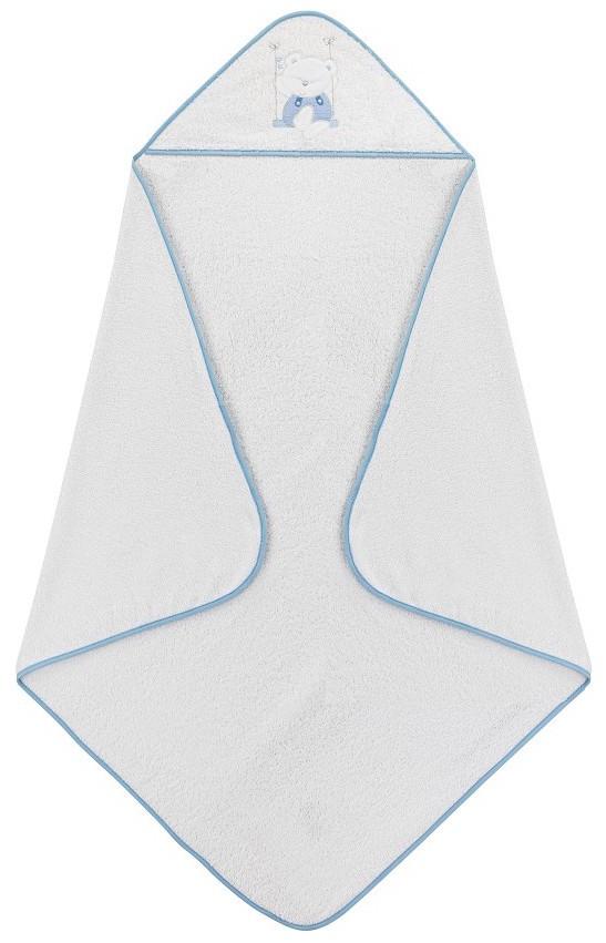 Accappatoio per Neonato Swing - Bianco/Azzurro