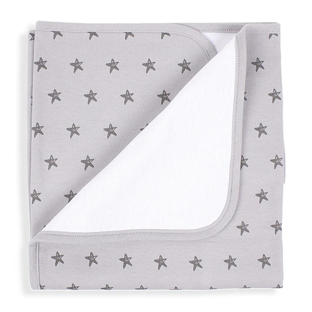 Sterne Babydecke - Grau