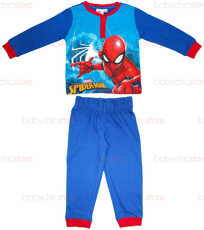 Pigiama Primavera/Estate Spiderman Blu - 4 Anni