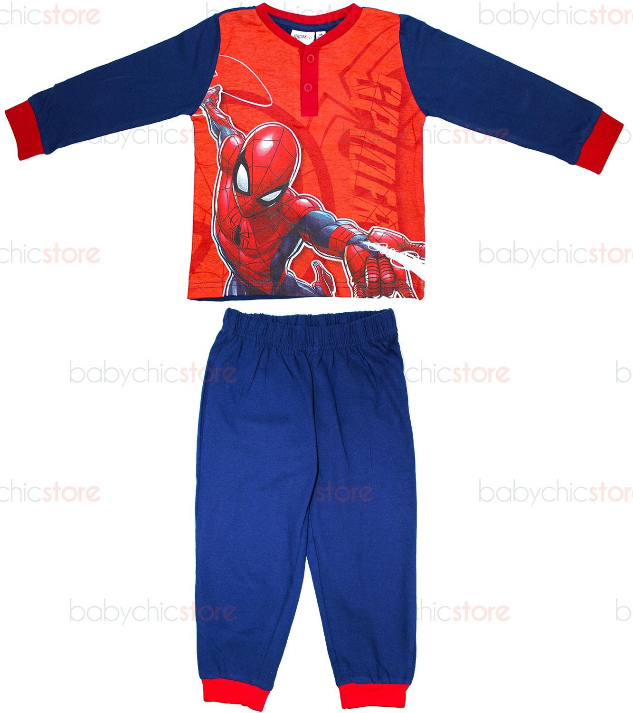 Pigiama Primavera/Estate Spiderman Rosso - 6 Anni