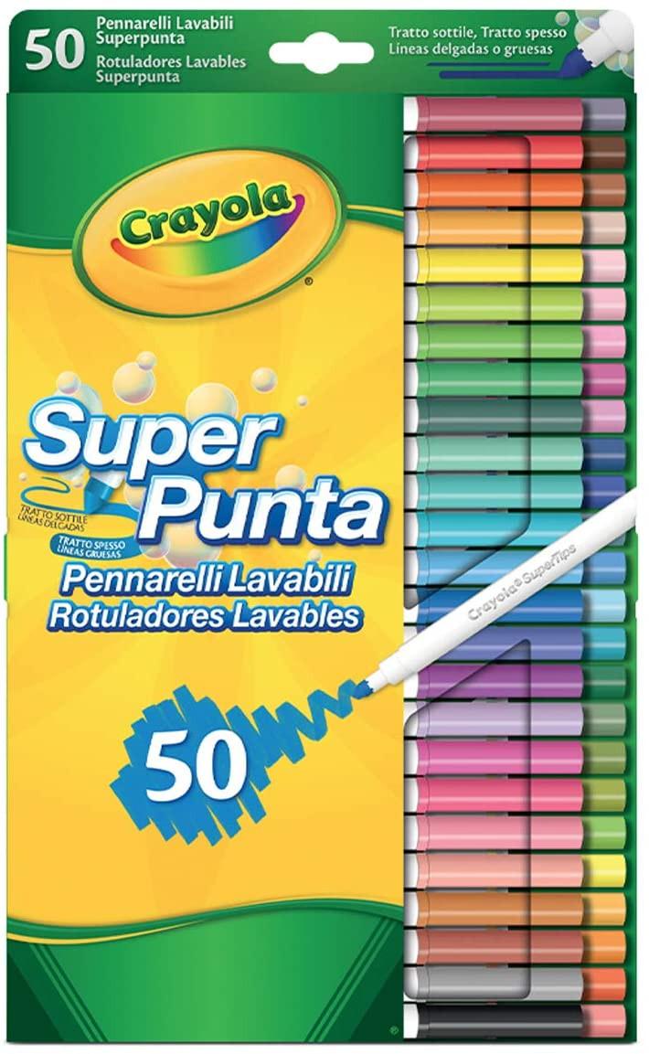 Set 50 Pennarelli Lavabili Superpunta