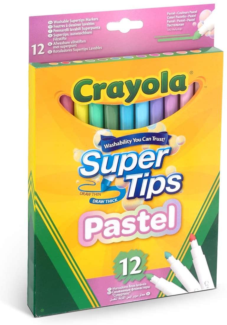 12 Pennarelli Superpunta Lavabili - Colori Pastello