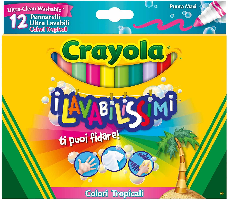 12 Pennarelli I Lavabilissimi - Colori Tropicali