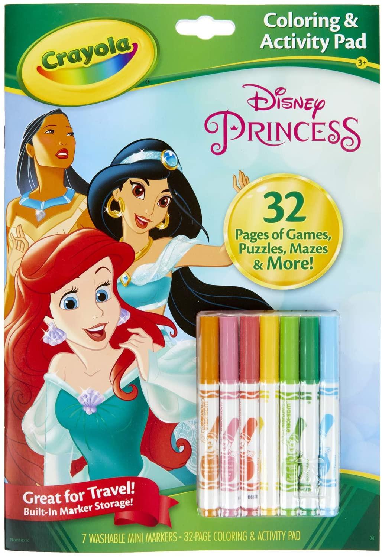 Album da Colorare con Attività - Principesse Disney