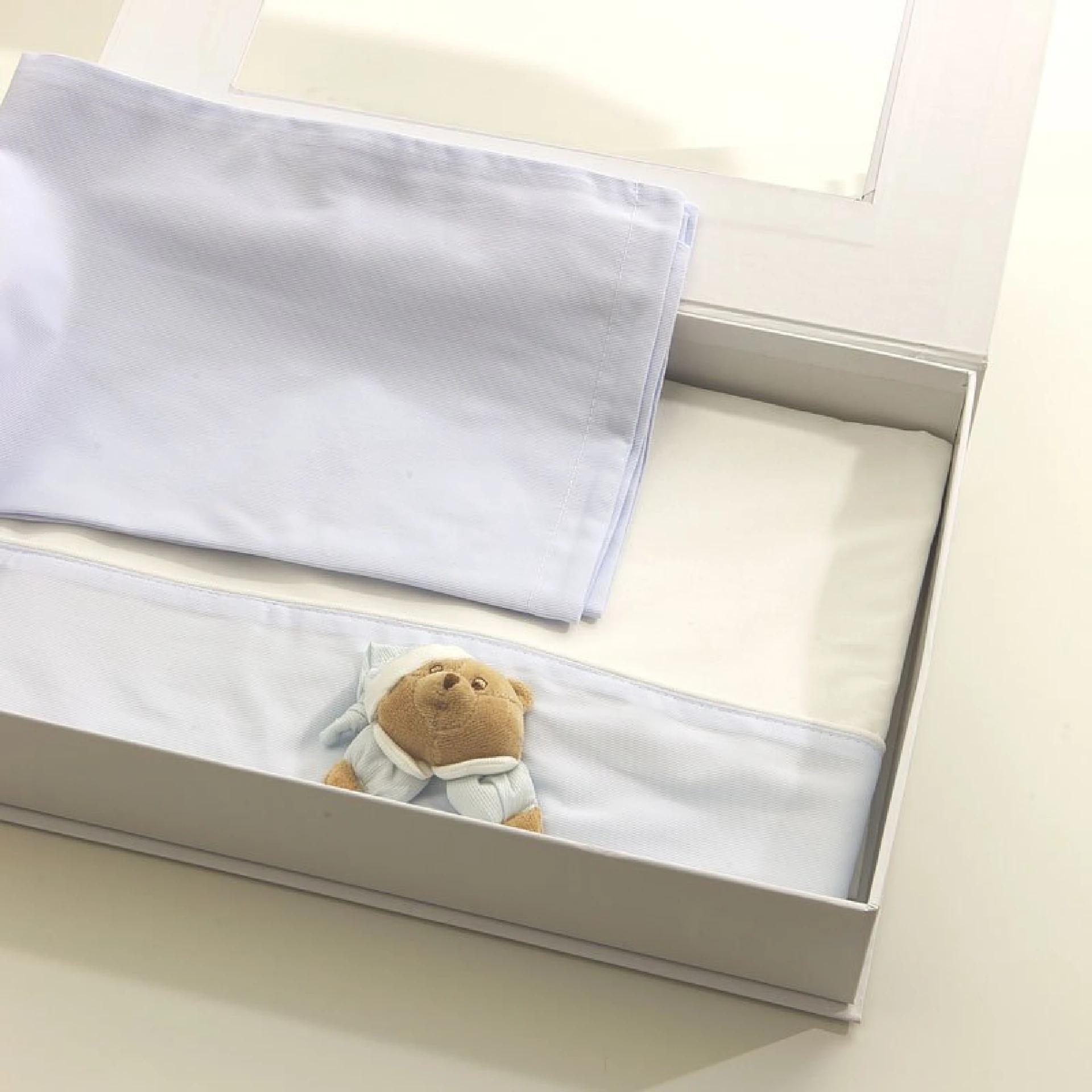 Draps Nanan pour lit bébé Puccio Star bleu clair