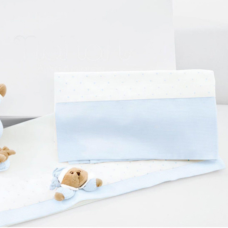 Nanan Set Draps pour Lit bébé Puccio Bleu