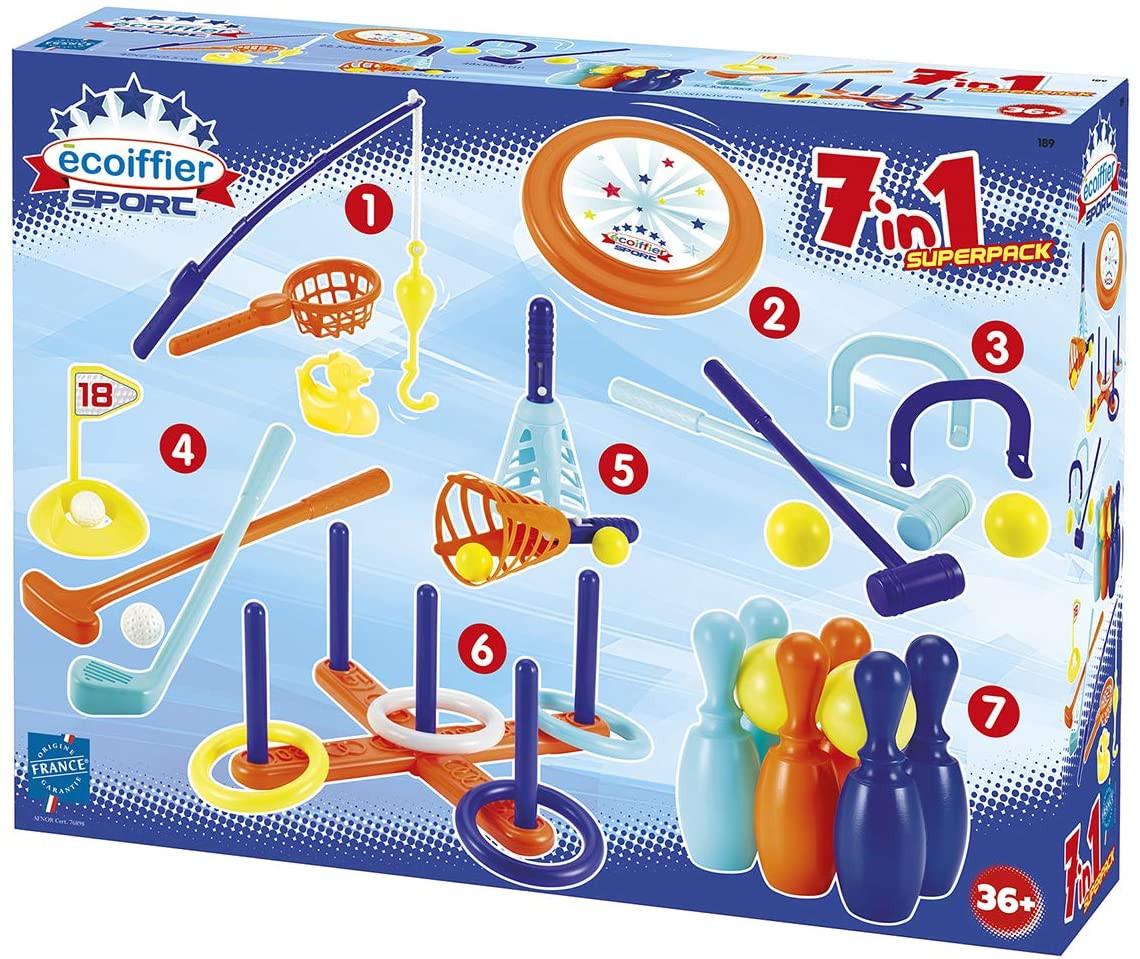 Set mit 7 Spielen für Kinder