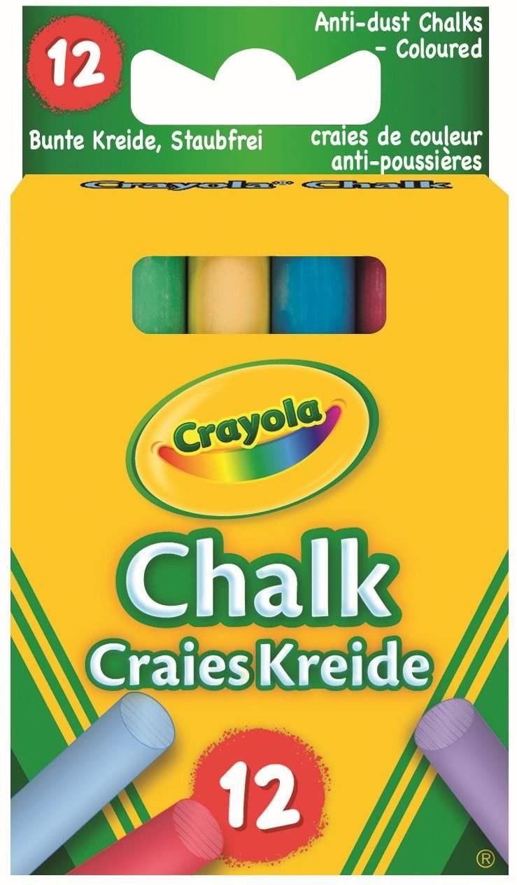12 Gessi Colorati Antipolvere Crayola