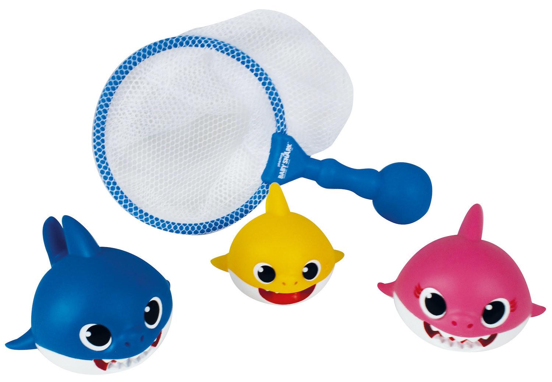 Personnages de bébé requin avec filet de bain