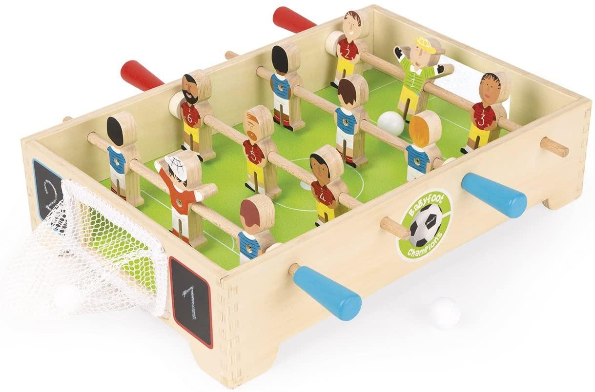Mini-Tischfußball aus Holz